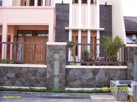 contoh rumah minimalis ornamen batu alam terbaru