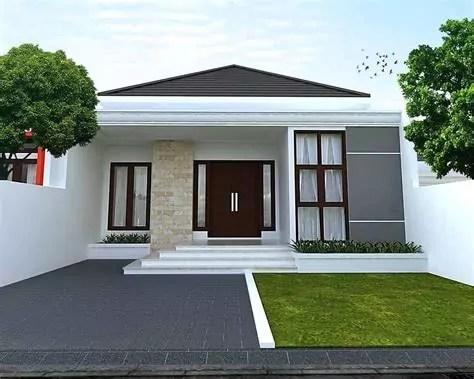 ide desain rumah minimalis tampak depan batu alam