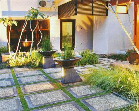 minimalist home garden design desain taman rumah