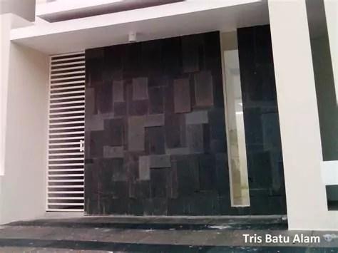 rumah minimalis lantai dinding batu alam desain rumah
