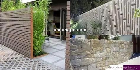 tip desain pagar serasi rumah minimalis