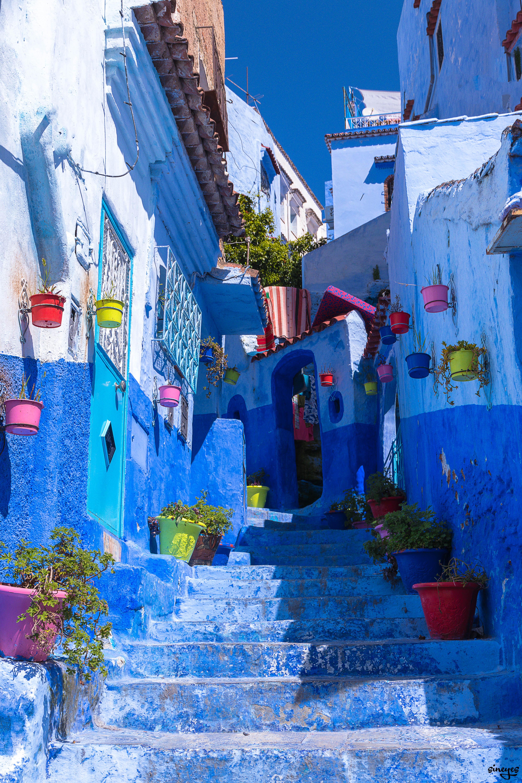 Blue Maze - Chefchaouen, Maroc, avril 2018