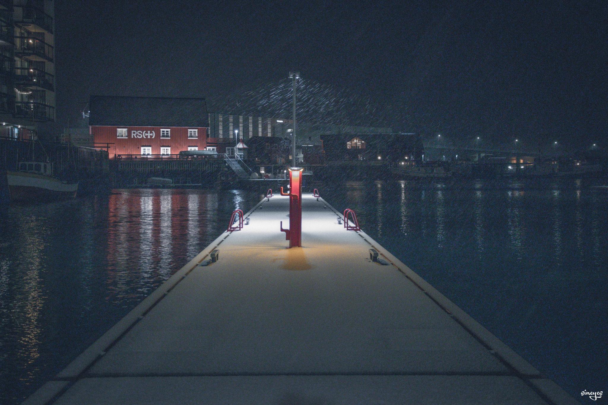 Snowing Harstad - Harstad, Norvège