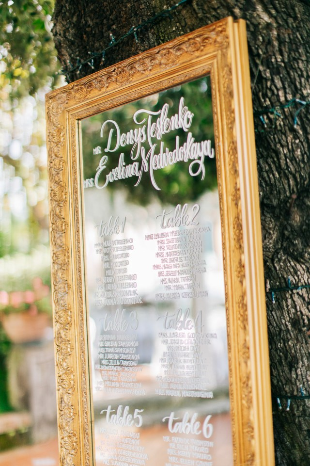 tableau de mariage, done with a mirror
