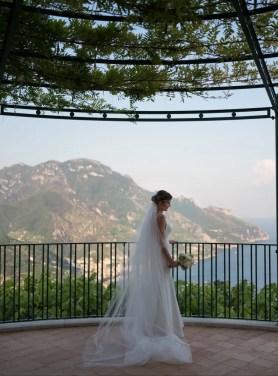 Brade before ceremony, on Amalfi coast