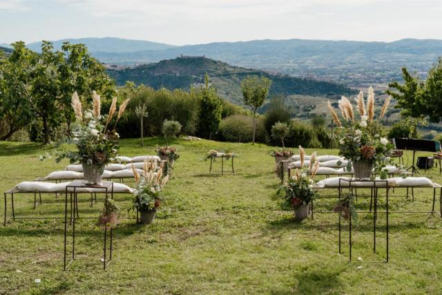 wedding ceremony in Umbria
