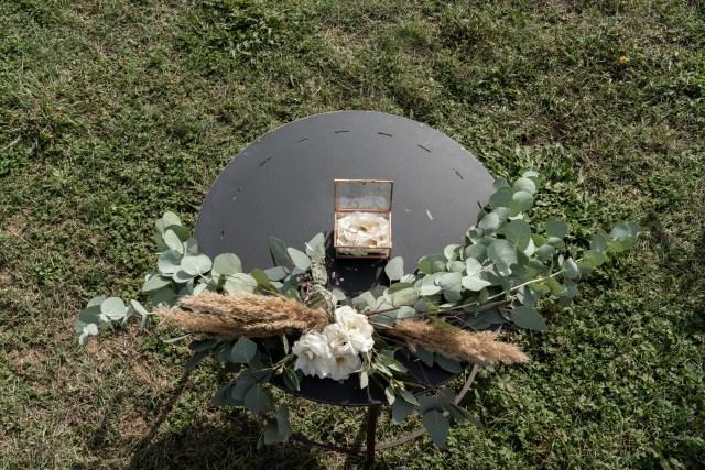 ceremony table on umbria hills