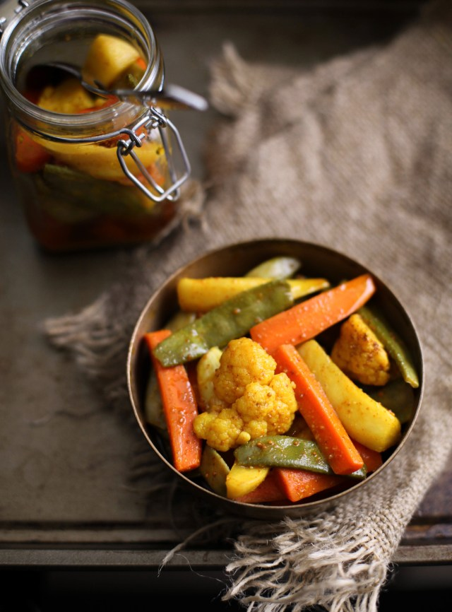 Indian Pickled Winter Vegetables, Sinfully Spicy