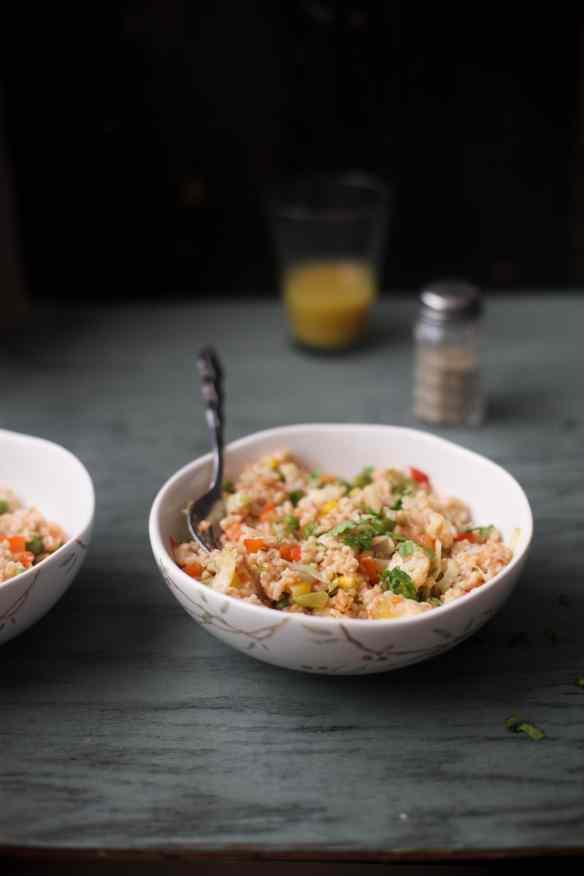 Namkeen Daliya, Savory Breakfast Oatmeal001, Sinfully Spicy