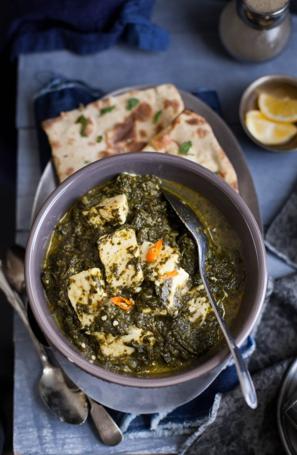 Sinfully Spicy- Palak (Saag Paneer),Spinach With Indian Cheese005