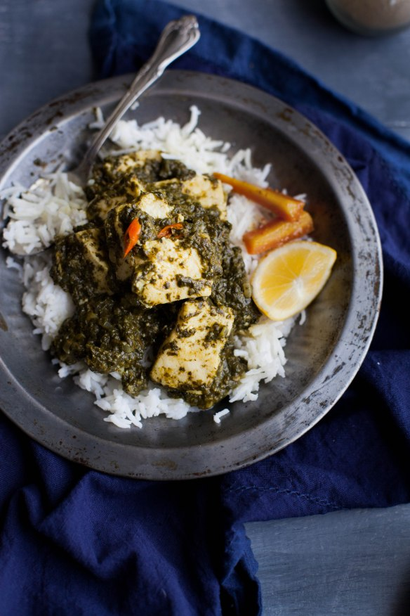 Sinfully Spicy- Palak (Saag Paneer),Spinach With Indian Cheese004