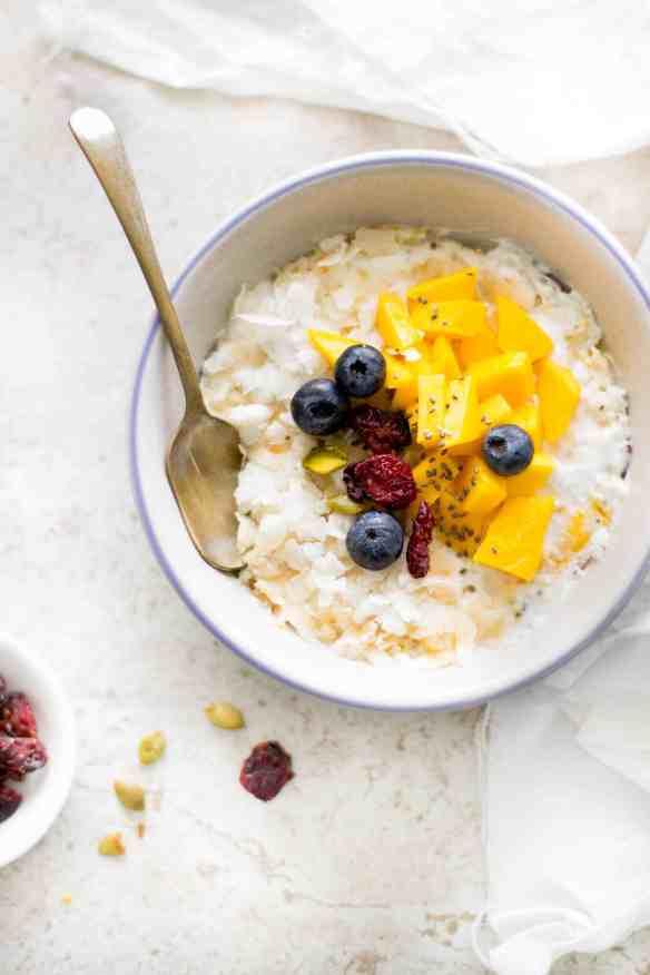Sinfully Spicy - Dahi Chivda - No Cook Flattened Rice & Yogurt Breakfast With Mangoes & Cardamom