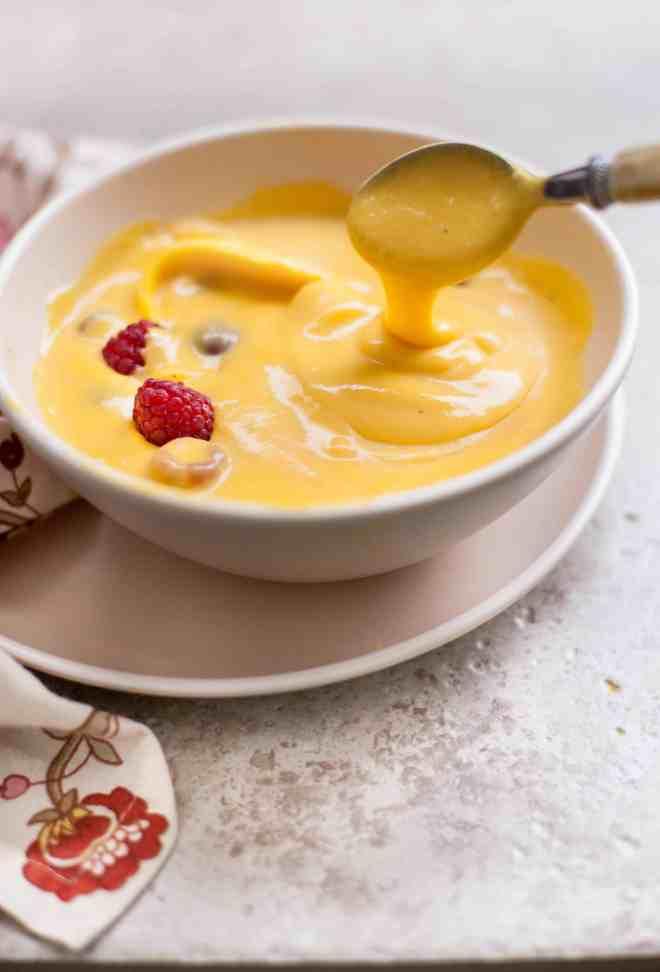 Sinfully Spicy : Mango Custard (eggless)