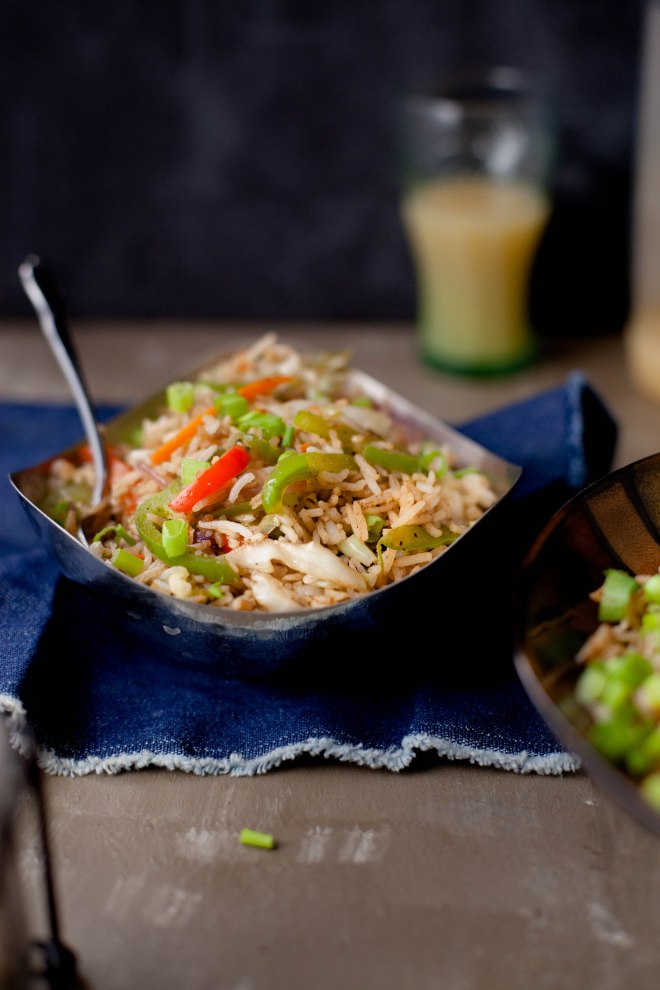 Sinfully Spicy: Vegetable Fried Rice #indochinese