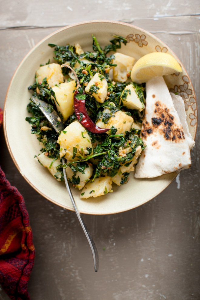 Sinfully Spicy - Aloo Methi (Potatoes and Fenugreek Leaves Stirfry) #indian