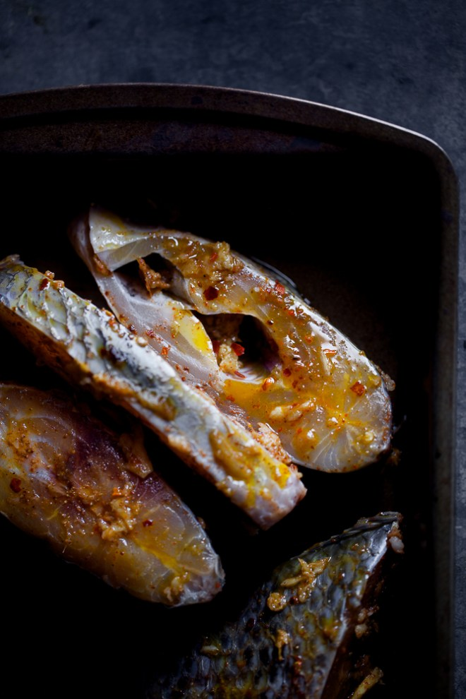 Sinfully Spicy -Marinated fish