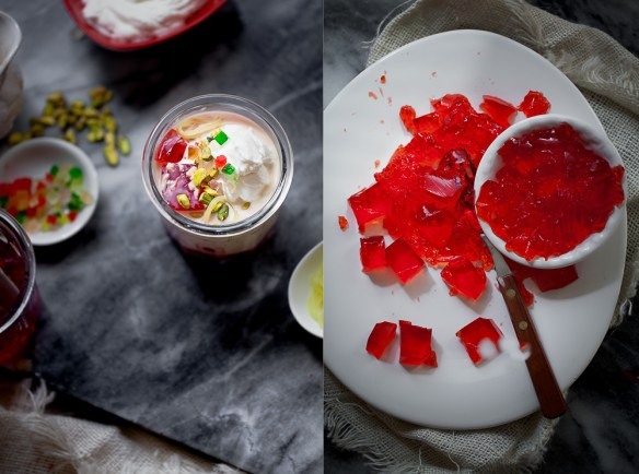 Sinfully Spicy- Rabdi Falooda With Rose Jelly (Sweet Vermicelli dessert)