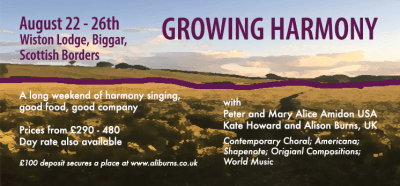 Growing Harmony flier