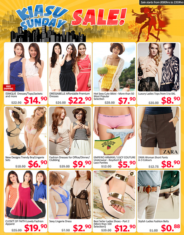 Check Out Qoo10 Gmarket Singapore Kiasu Sunday Sale !
