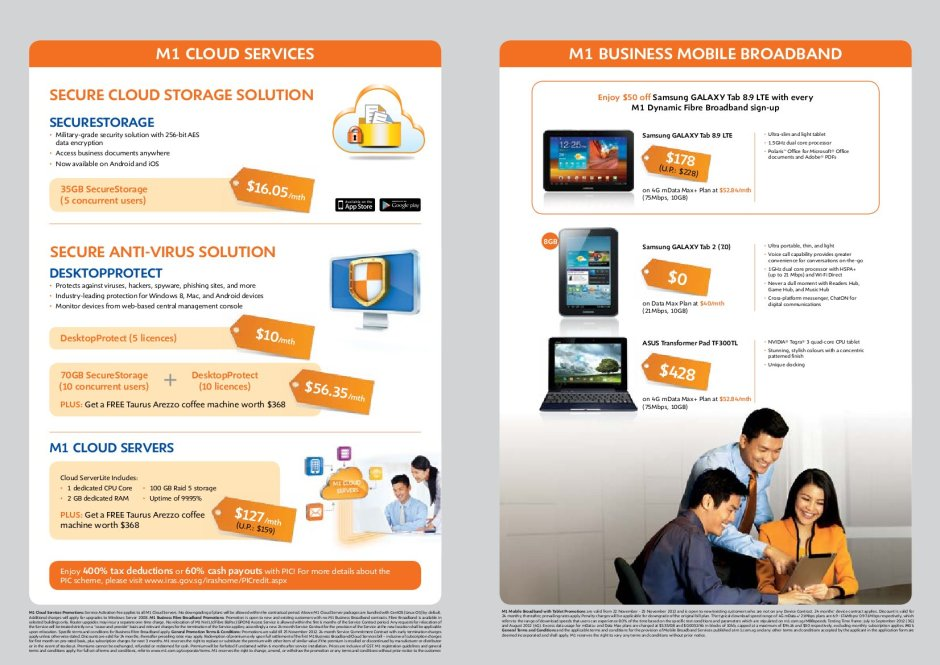 SITEX 2012 M1 Business Broadband And Mobile Deals 2