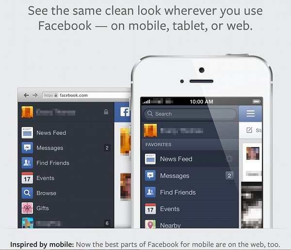 New FaceBook News Feeds Mobile Look
