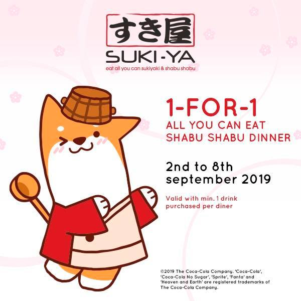 Suki-Ya S'pore 1-for-1 Shabu Shabu