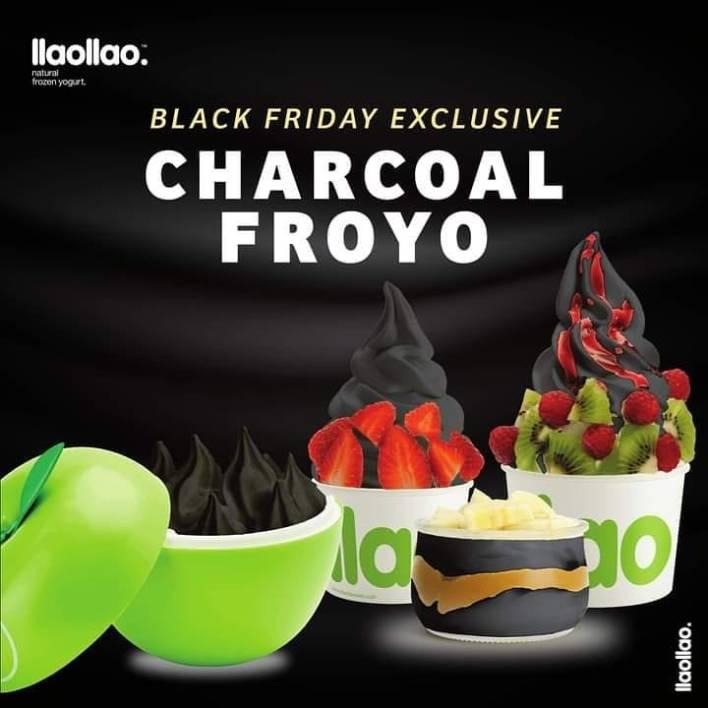 llaollao charcoal frozen yoghurt