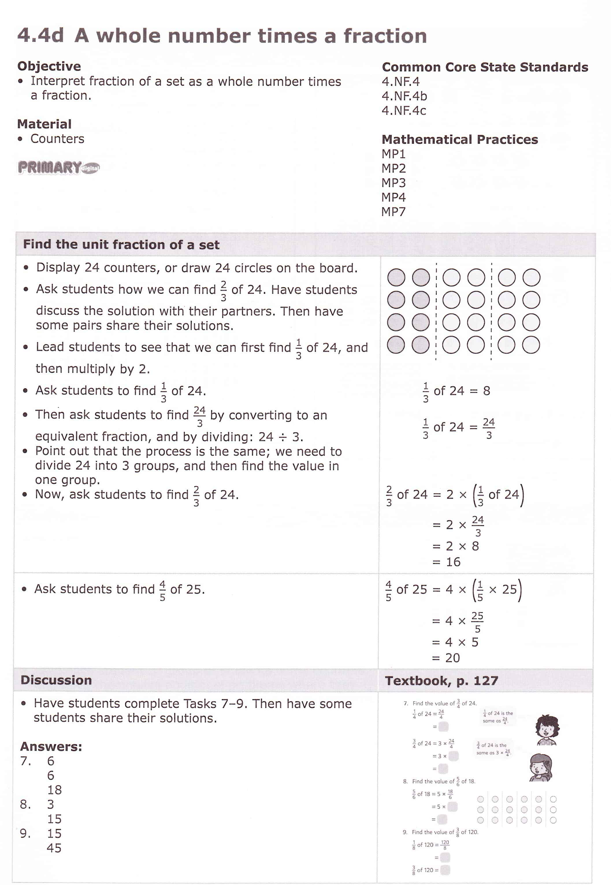 Fractions Of Sets Worksheet