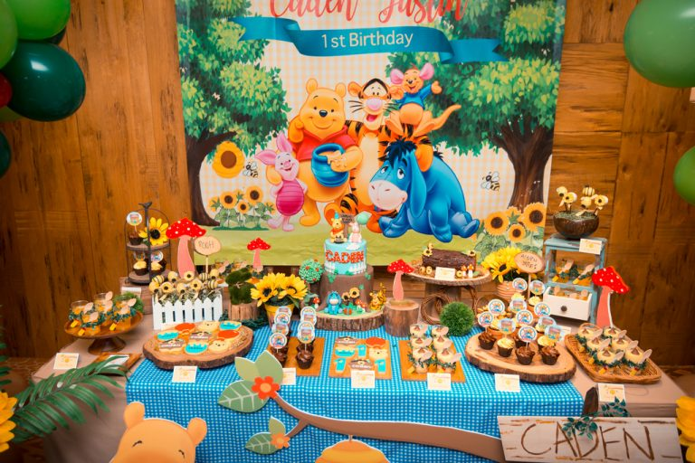 Caden S Winnie The Pooh Themed 1st Birthday Party At 10 Scotts