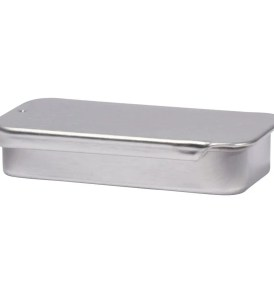 Empty Aluminum Lip Balm Tin Rectangle