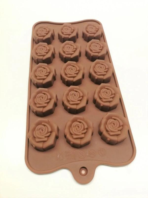 15 Cavity Rose silicon mold