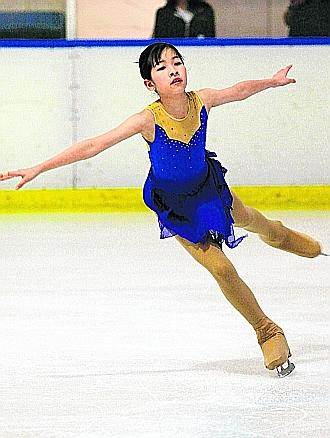 Young talents like Ng Yi Ching will not be able to compete in ISU-sanctioned competitions because of CMT's decision not to build the Olympic-sized rink. Picture courtesy of The Straits Times