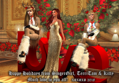 Happy Holidays From Singergirl Evie Marie, TerriTam and Kitty