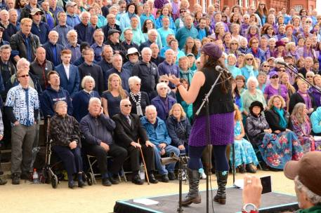 Sing for Water Cardiff 2015 - Performance - Laura Bradshaw conducts Sylvie