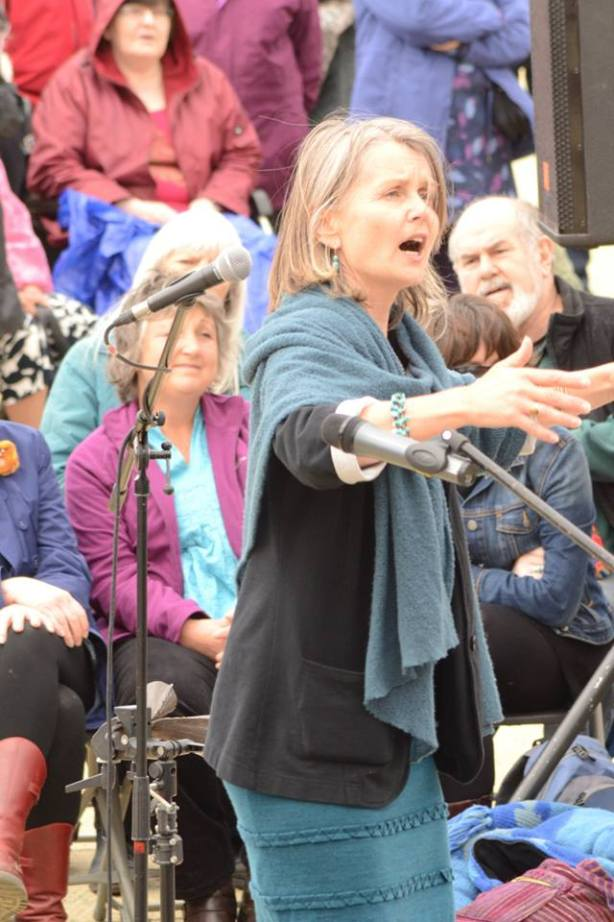 Sing for Water Cardiff 2015 - Performance Pauline Down conducting