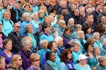 Sing for Water Cardiff 2015 - Tenors in Torquoise