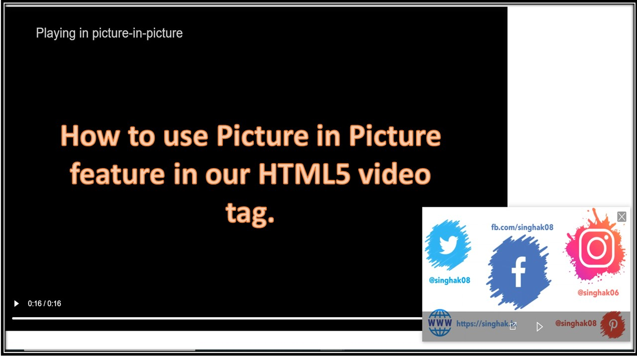 Use Picture-in-Picture Web API