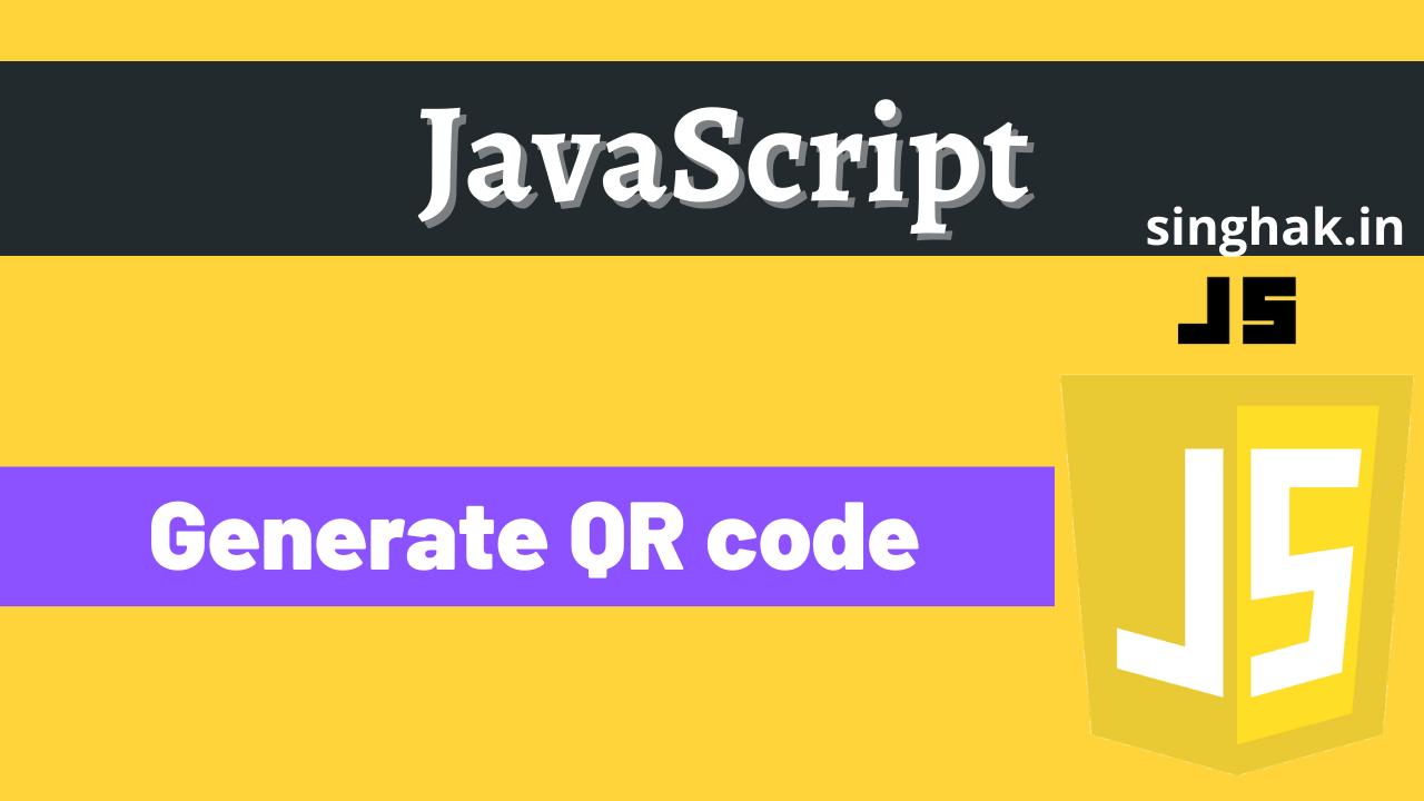 Generate QR code using javaScript
