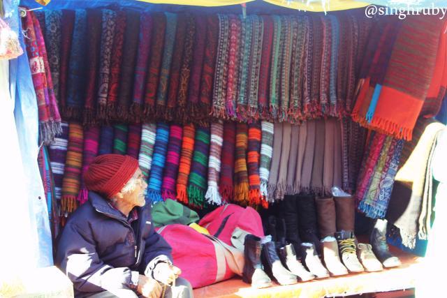Local woolen wears.