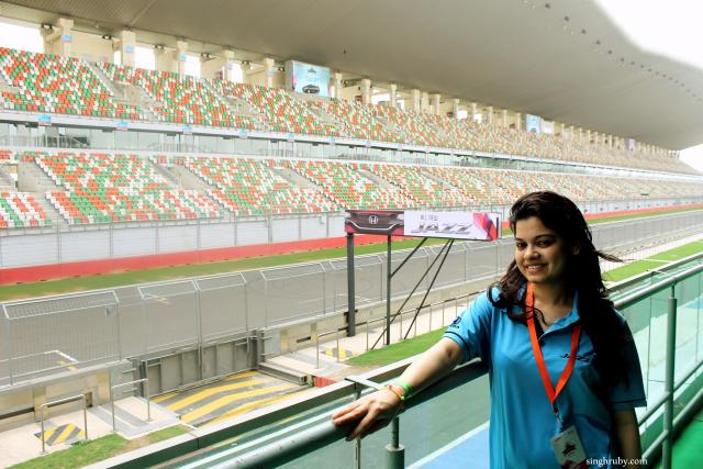 That is me posing with the F1 track.