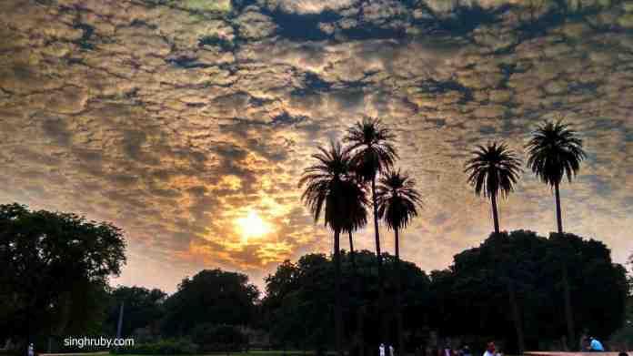 Sunset at Humaun's Tomb