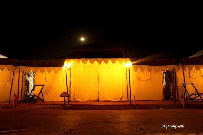 My tent at Rann City