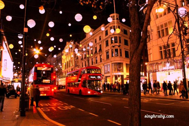 Lantern decoration on London Streets