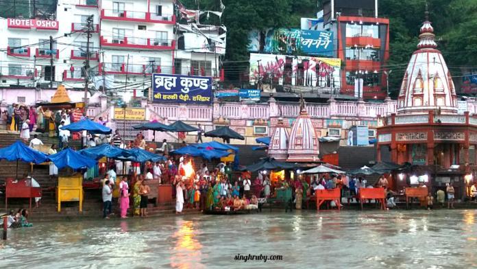 Ganga Ki Aarti at Har Ki Pauri