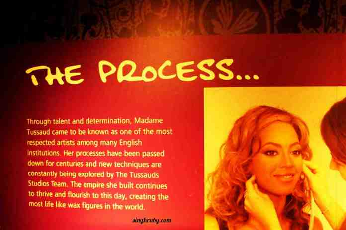 Process of making wax statues at Madam Tussaud