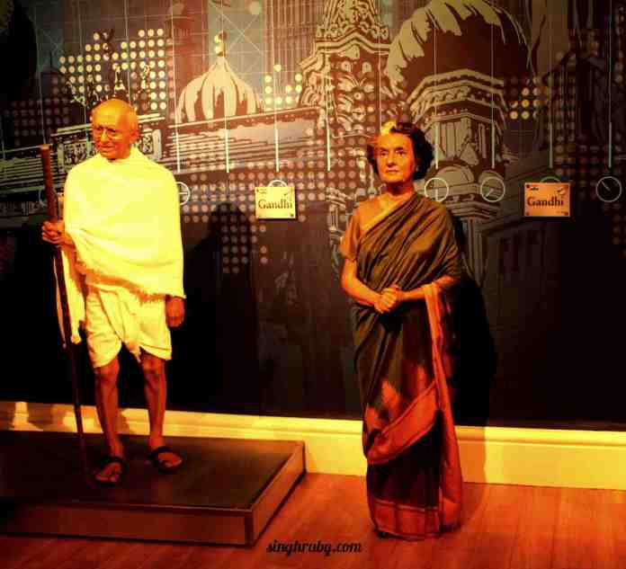 The Gandhi duo at Madam Tussauds London