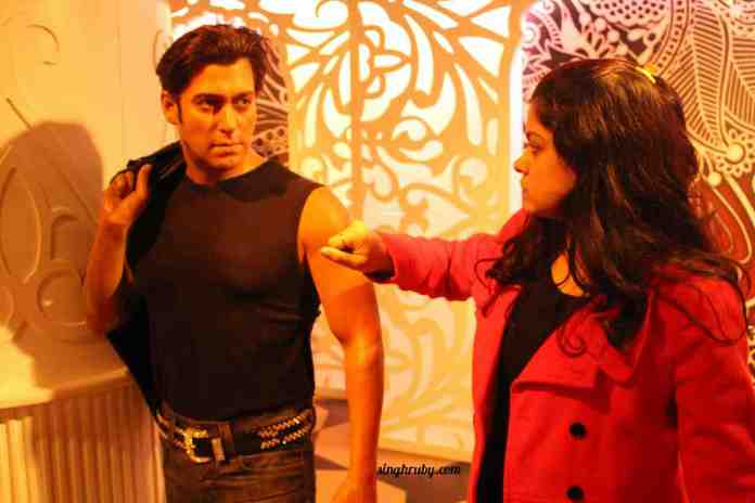 The muscle man Salman Khan at Madam Tussauds London