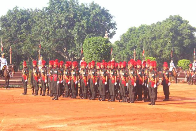 The new set of guards at Change Of Guards