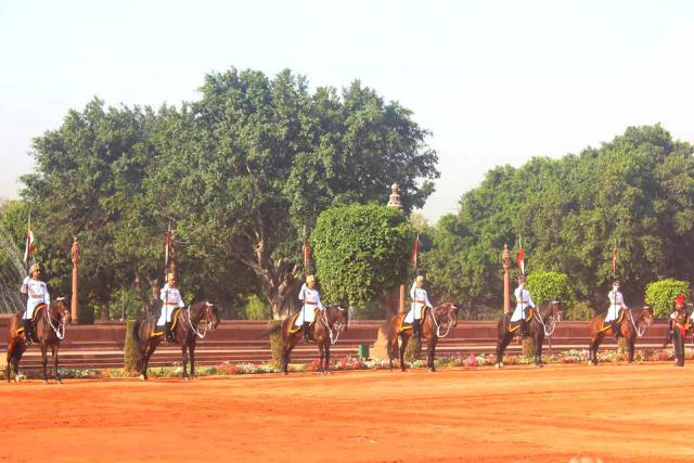 President's Guards standing tall at Change Of Guards