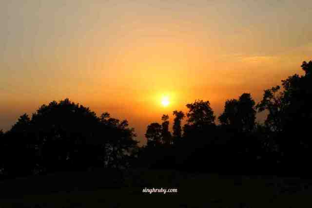 Sunset at Nagtibba basecamp